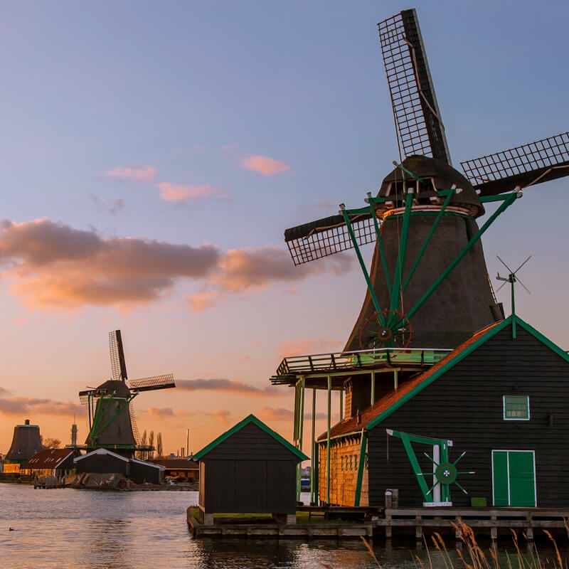 Free Amsterdam Canal Cruise + Charm of Holland Tour